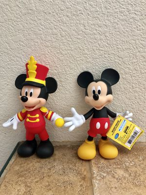 Mickey Mouse Set of 2 Disney 90 Anniversary Figures for Sale in San Jose, CA