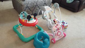 Infant swing, Walker, and toys for Sale in Cypress, TX