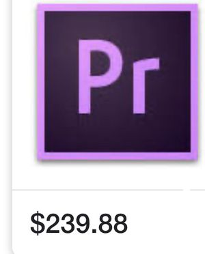 Adobe premiere pro for Sale in Fort Worth, TX