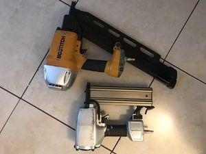Bostitch industrial nail gun and regular chrome nail gun for Sale in North Las Vegas, NV