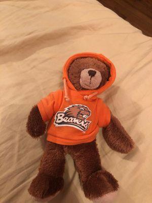 Stuffed bear with beavers sweatshirt for Sale in Portland, OR