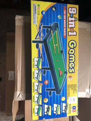 9 in 1 Miniature Game Table for Sale in Macomb, MI