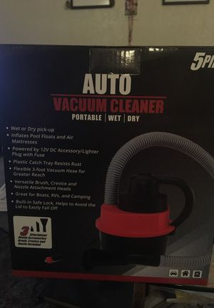 Portable Auto Vacuum Cleaner 5 piece Set for Sale in Lodi, CA