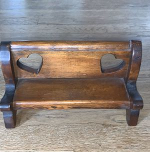 Very nice hand carved doll bench. for Sale in Staunton, VA