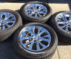 """2019 20"""" OEM Ford F-150 Lariat Chrome Wheels & 90% Bridgestone Tires * Expedition for Sale in Antioch, CA"""