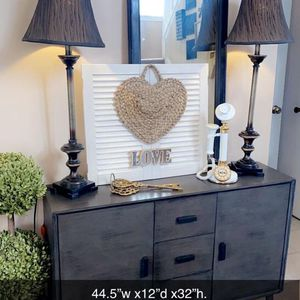 """Beautiful buffet /console/entryway table. 44.5w x12""""d x32""""h.check all pic. Firm. No hold. for Sale in Naperville, IL"""