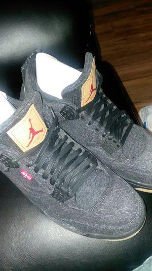 Jordan's Black Denim Levis Retro 4 for Sale in Philadelphia, PA