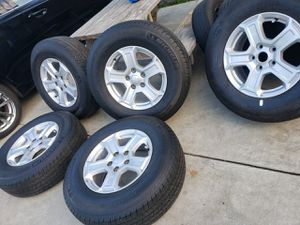 """5×JEEP 17""""INCH RIM'S WITH 245/75/17 MICHELIN TIRES 90% for Sale in Ontario, CA"""