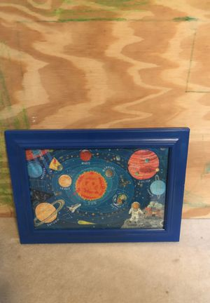 Space puzzle picture framed for Sale in Johnston, RI