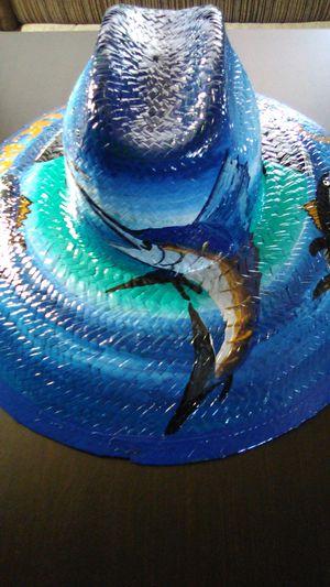 Custom painted wicker fishing hat for Sale in San Diego, CA