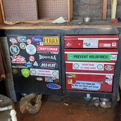 Craftsman 4 Drawers 1 Cabinet Tool Box Wood Top for Sale in Santa Ana,  CA