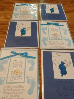 Please Help Lost Jobs Selling My Handmade Baby Cards for Sale in Graham,  WA