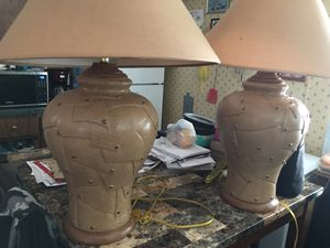 Heavy duty lamps color brown and beige for Sale in La Vergne, TN