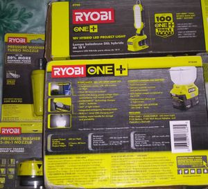 RYOBI WORK SET: 2 LED LIGHT'S AND 2 PRESSURE WASHER NOZZLES for Sale in Loma Linda, CA