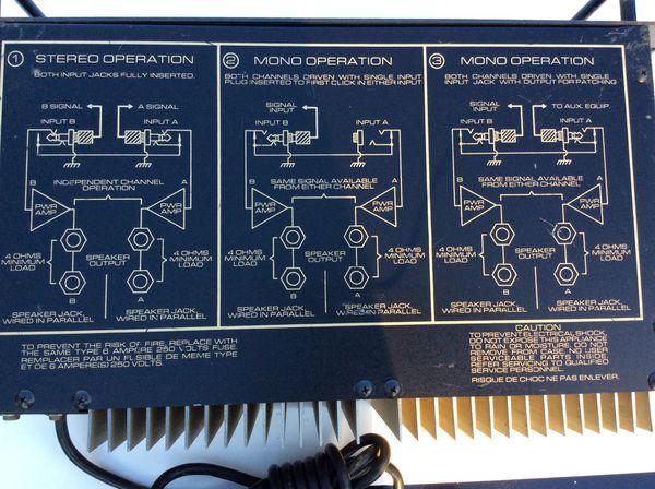 Vintage Peavey M-2600 M 2600 Stereo Power Amplifier.