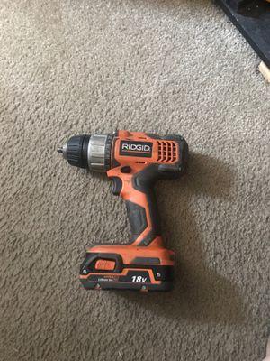 Ridgid drill 18v for Sale in Calexico, CA
