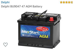 AGMBattery DELPHI MaxStart AGM never used for Sale in Riverside, CA