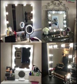 Makeup Mirror Lights LED Hollywood Kit 10 Bulbs Wall Vanity Light Dimmable Light for Sale in Orlando, FL