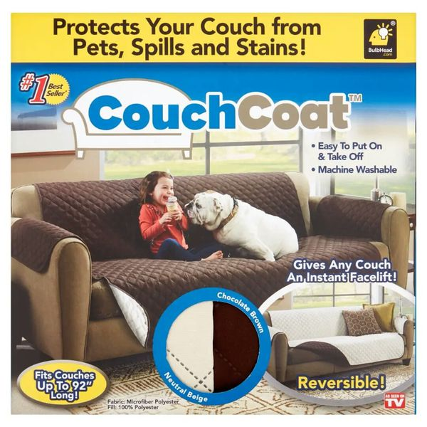 Couch Coat Reversible Microfiber Couch Cover