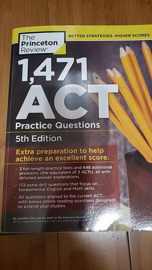 1,471 ACT Practice Questions 5th Edition for Sale in Ontario, CA