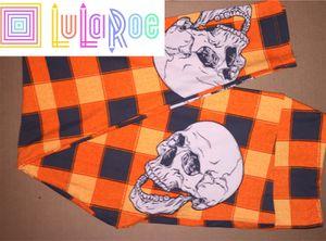 LuLaRoe TC Leggings Skulls Plaid for Sale in East Peoria, IL