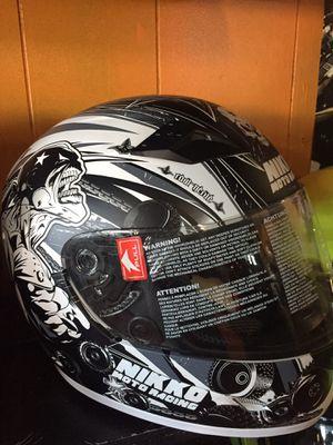 New matte black and white dot helmet $60 for Sale in Whittier, CA