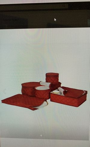 China Storage Set 6 Box Quilted Cases Dinnerware Crimson Keepers Fine Containers for Sale in Bedford Heights, OH