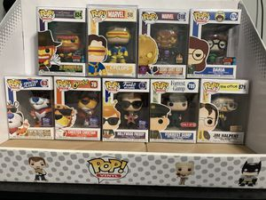Funko Pop, Vinyl Figures, Bobblehead Figures, collectibles, Shared exclusives, Target, Hot Topic, Toy's R Us, Walgreens, Hollywood, Convention for Sale in Loma Linda, CA