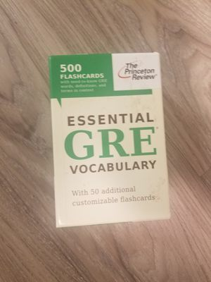GRE vocabulary flashcards for Sale in Seattle, WA