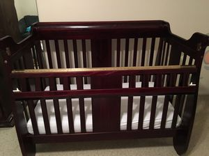 3 in 1 convertible crib and full dresser with changing table for Sale in Los Angeles, CA
