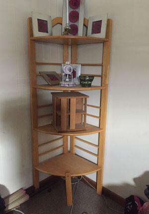 Light wood corner shelf for Sale in Garnet Valley, PA