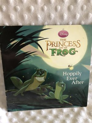 Wow! Disney Princess and the frog 🐸 hoppily ever after book! Very hard to find! Only 1 available! Louis, prince, Tiana, ray the firefly, mama Odie, N for Sale in Phoenix, AZ