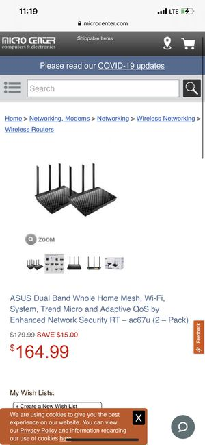 Asus mesh routers for Sale in Santa Ana, CA