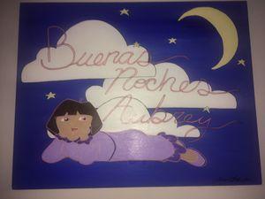 Girls Room Art (Buenas Noches Aubrey) for Sale in Rockville, MD