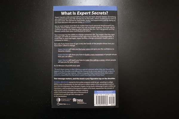 Expert Secrets Book by Russell Brunson