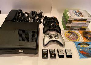 Xbox 360 Slim - 250GB - 3 Controllers - 12 Games for Sale in Stone Mountain, GA