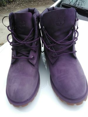 Timberland boots- Purple size 5c for Sale in Dallas, TX
