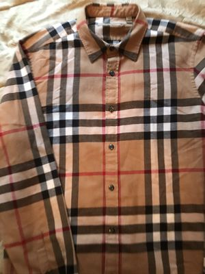 Burberry Flannel. New authentic..... Size XL. Fits like a large. $190 obo proof of our purchase on hand. for Sale in Vernon, CA