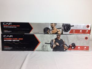 NEW CAP weight lifting bar AND curl bar for Sale in Melrose, TN