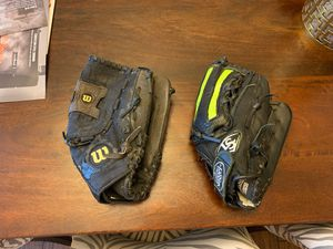 Two Softball gloves for $35 baseball glove for Sale in Katy, TX