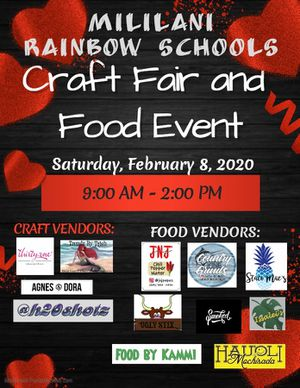 Rainbow School Craft Fair and Food Event for Sale in Wahiawa, HI