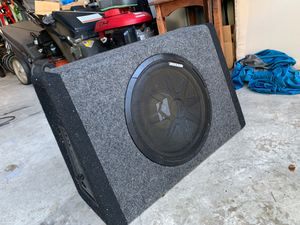 Kicker subwoofer with amp for Sale in Bradenton, FL