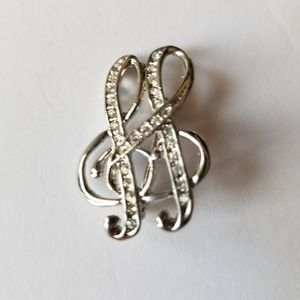 Silver Music Notes Pin for Sale in Los Angeles, CA