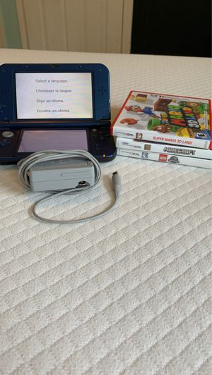 Lightly used limited edition Nintendo 3DS XL - includes 3 games and charger for Sale in Revere, MA