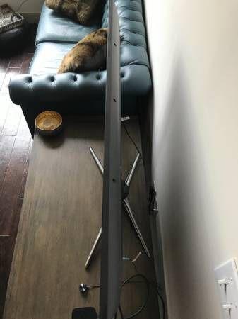 Sleek modern iron and wood rustic coffee table