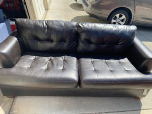 Black Leather Couch/Loveseat for Sale in San Jose, CA