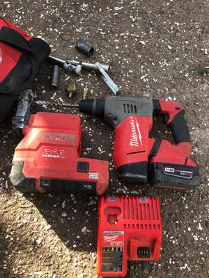 """Milwaukee M18 Fuel 1"""" SDS Plus Rotary Hammer (with battery' everything included) for Sale in E RNCHO DMNGZ, CA"""