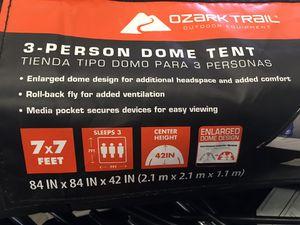 2 Ozark 3 person dome trail tents / 2 air mattress for Sale in Vancouver, WA