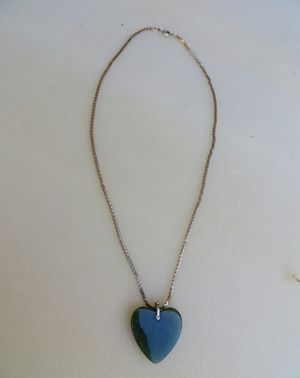 Real jade heart necklace for Sale in Pismo Beach, CA