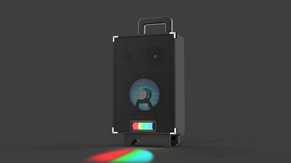 Sharper Image SBT1045BK LED Tailgate Party Speaker with Rainbow Lighting